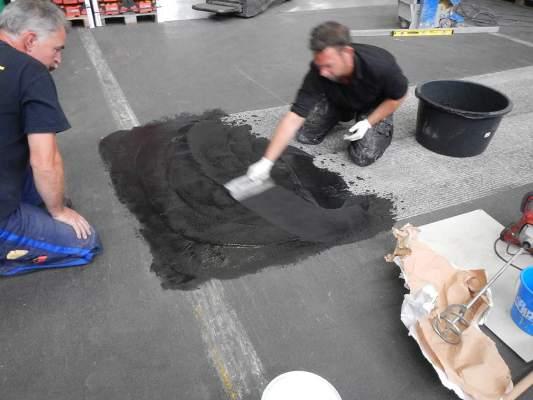 Reparatur von Beton- und Asphaltböden