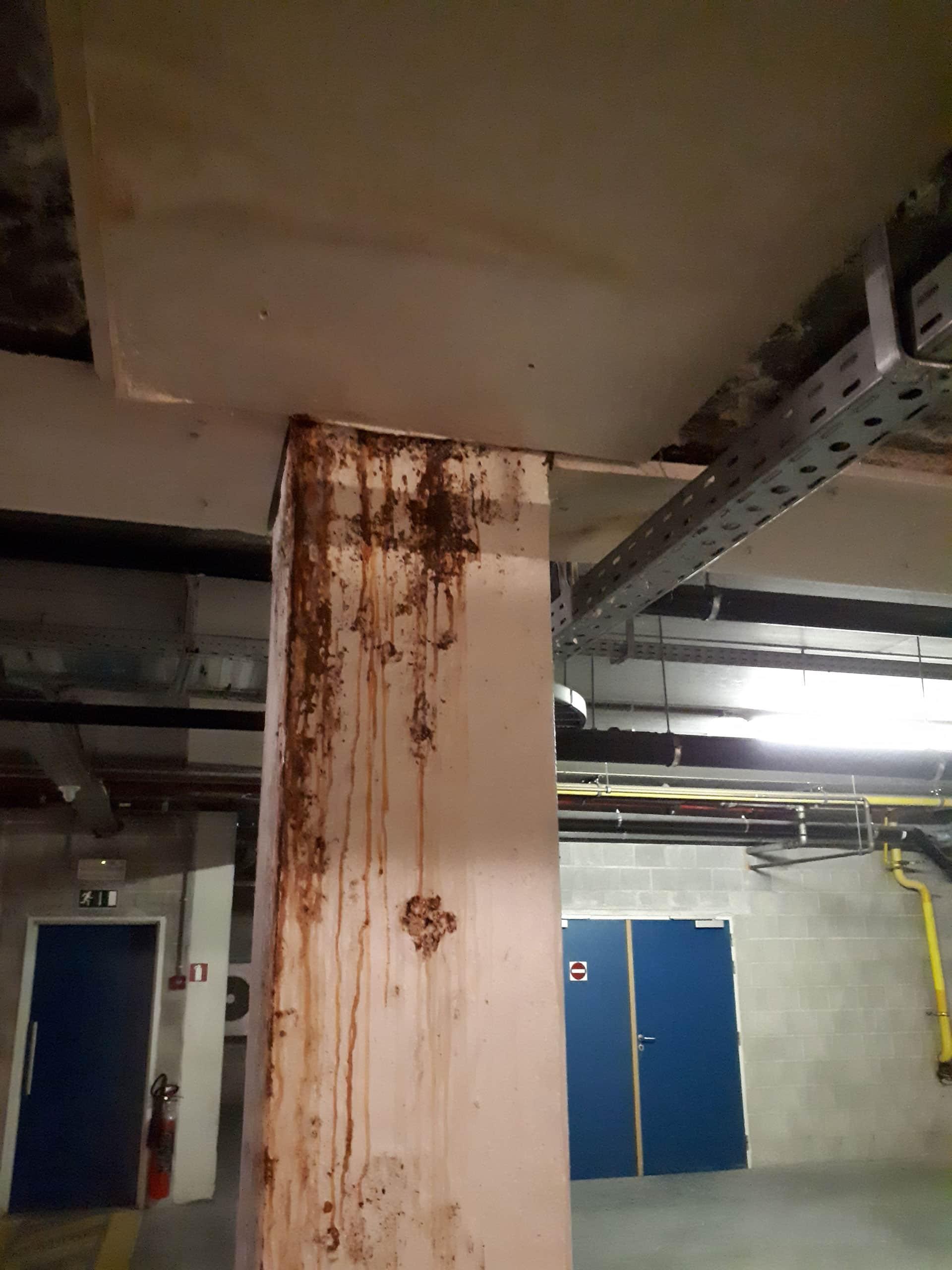 Detecting leaks in parking garages