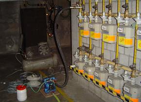 Dichten van gasleiding d.m.v. polymeerharsinjectie