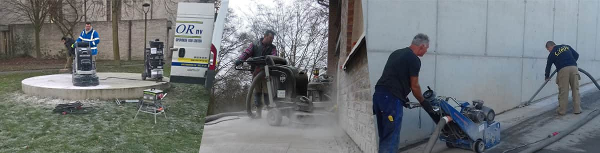 Concrete sanding and milling