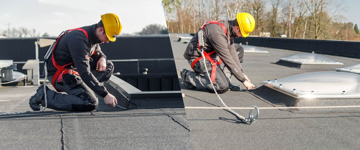 Preventive checks for water seals on flat roofs